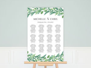 Gorgeous Greenery Seating Chart Poster