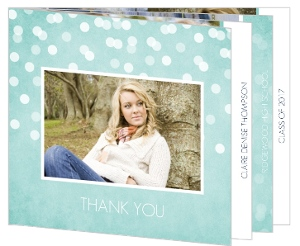 Rustic Turquoise Graduation Thank You Booklet