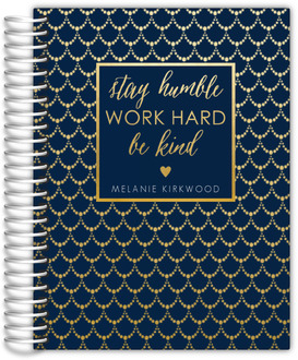 Faux Gold Foil Beaded Pattern Student Planner