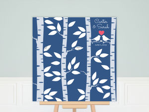 White Birch Tree Wedding Guest Book Poster
