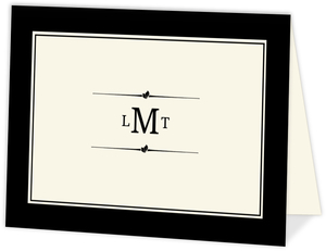 Monogram Cream and Black Formal  Thank You