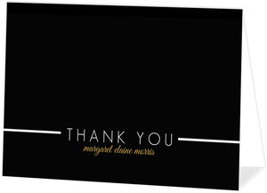 Black Multi Photo Graduation Thank You Card