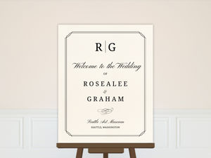 Beautiful Formal Double Frame Wedding Welcome Poster