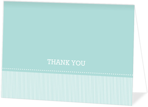 Simple Blue Graduation Thank You Card