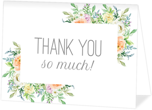 Corner Floral Frame Thank You Card