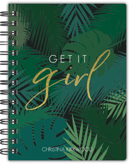 Tropical Get It Girl Custom Notebook