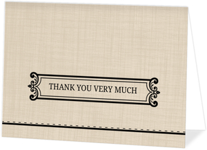 Western Typography  Graduation Thank You Card