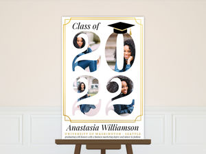 Faux Gold Photo Cutout Graduation Poster