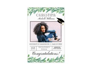 Gorgeous Greenery Graduation Poster