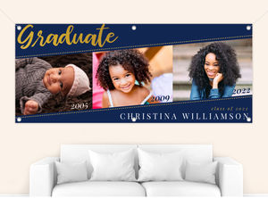 Simple Dotted Angle Graduation Banner