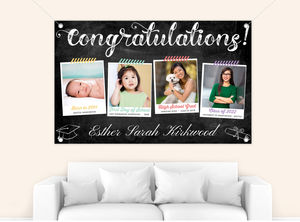 Taped Snapshots Timeline Graduation Banner