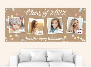 Colorful Confetti Timeline Graduation Banner