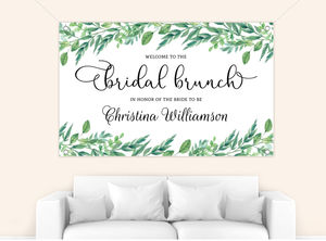 Gorgeous Greenery Bridal Shower Banner