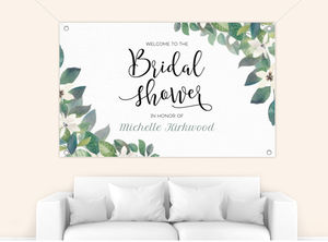 Diamond Frame Greenery Bridal Shower Banner