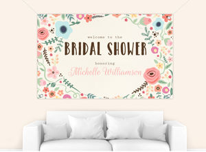 Whimsical Garden Frame Bridal Shower Banner