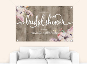 Rustic Wood Bridal Shower Banner