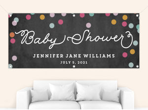 Colorful Confetti Baby Shower Banner