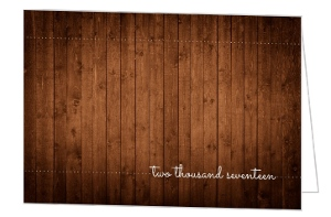 Rustic Wood Graduation Thank You Card