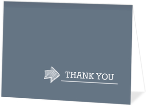Blue Timeline  Thank You Card