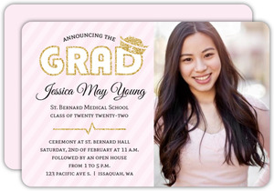 Nursing school graduation invitations nursing school graduation beautiful soft pink faux glitter nursing school graduation invitation filmwisefo
