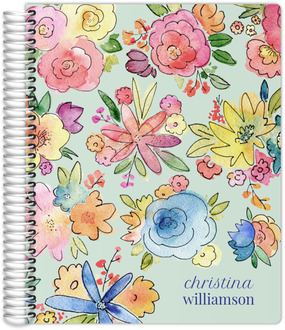 Vibrant Watercolor Flowers Student Planner