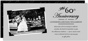 Vintage Photo Frame Set 60th Wedding Anniversary Invitation