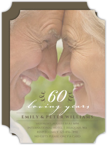 Classic Anniversary Photo 60th Anniversary Invitation