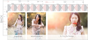 Pink Gray Simple Geometric Photo Graduation Announcement