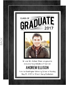 Chalk Frame Nursing School Graduation Announcement