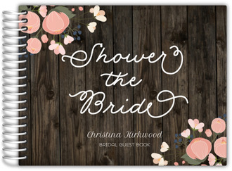 rustic shower bridal shower guest book
