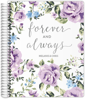 Purple Floral Forever & Always Real Foil LGBTQ Wedding Planner