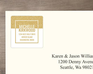 Modern Faux Glitter Graduate Address Label