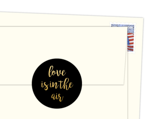 Love Is In The Air Faux Foil Envelope Seal