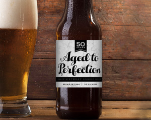 Marble Aged To Perfection Beer Label