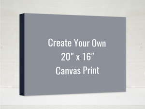 Create Your Own 20x16 Canvas Wrap