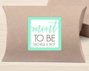Mint To Be Favor Label
