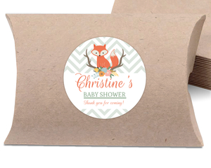 Cute Fox Woodland Favor Label