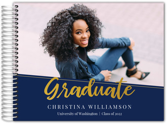 Simple Dotted Angle Graduation Guest Book