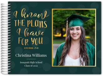 I Know The Plans Graduation Guest Book