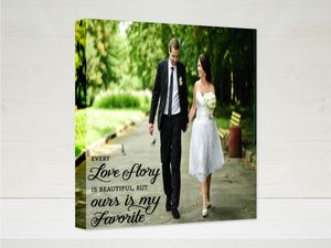 Love Story Quote Canvas Print