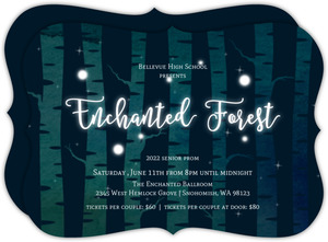 Glowing Enchanted Forest Prom Invitation