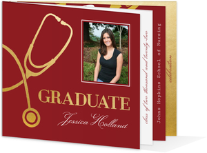 Elegant Faux Gold Nursing Graduation Invitation