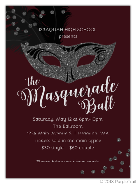 Masquerade Ball Prom Invitation