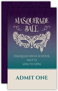Damask Pattern Gradient Prom Ticket