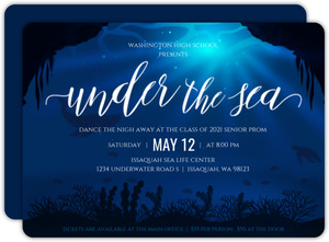 Deep Under the Sea Prom Invitation