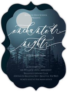 Glowing Moon Enchanted Night Prom Invitation