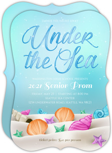 Whimsical Under the Sea Prom Invitation