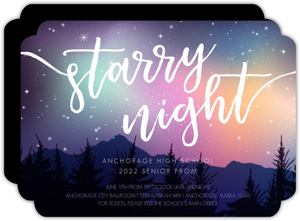 Colorful Northern Lights And Stars Prom Invitation