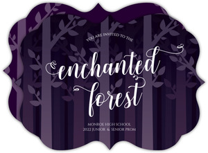 Whimsical Enchanted Forest Prom Invitation