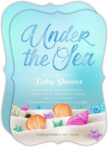 Whimsical Under the Sea Baby Shower Invitation